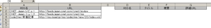 Excelのサンプル表